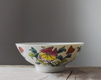 Antique Bowl, Porcelain Bowl, Asian Bowl, Baskets and Bowls, Vintage Bowl, Chinese Bowl, Rice Bowl, Hand Painted Bowl, Home & Living