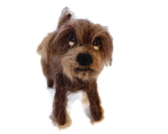 Personalised Dog Sculpture, Needle Felted Mutt, Crossbreed or any breed of Cat, Dog or Horse of Your Choice Made To Order