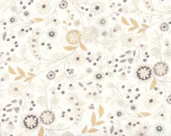 Moda Maven BasicGrey 30463 19 Delicate Floral Cloud By The Yard