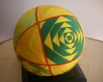 Hand made Temari ball (yellow)
