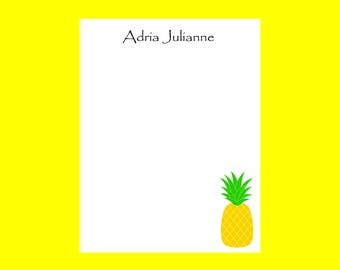 Pineapple Notepad, Personalized Teacher notepad, End of Year teacher gift