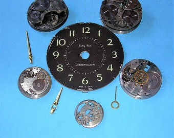 Vintage Watch Parts Vintage Clock Parts Antique Vintage Pocket Watch Parts