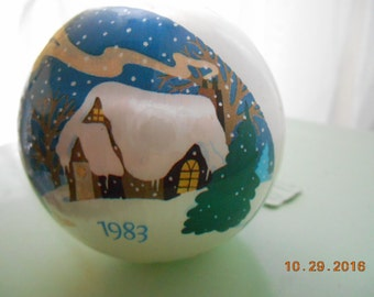 1983 American Greetings Satin Ornament Home CO-1108