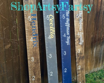 Growth Chart Ruler hand painted- perfect for family birthdays, children's birthday, Baby Shower