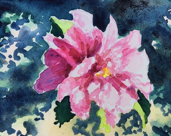 Original watercolor painting Past, Present, Future wall art by Paige Smith-Wyatt