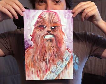 "Chewbacca poster print (12"" x 8"")"