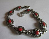 Antique red bracelet