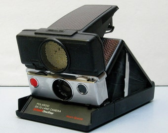 Vintage Polaroid SX-70 Land Camera Sonar One Step Sears Special Film Tested Re Skinned