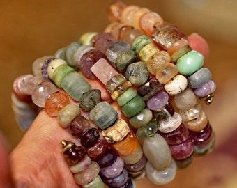 Made to Order Gemstone, Beaded, Bracelet, Spiral, Bangle, Cuff,