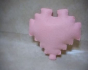 Felt Pixel Heart Plush