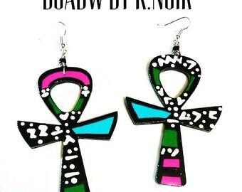 Key of Life Printed Earrings