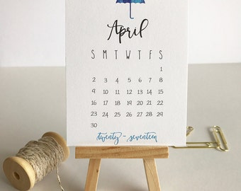 2017 Mini Desk Calendar with Easel Perfect Gift!