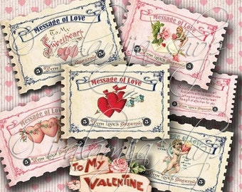 SALE MESSAGE OF Love Collage Digital Images -printable download file-