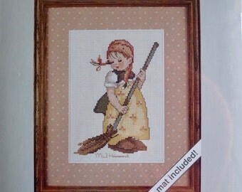 M. I. Hummel Weekenders, Little Sweeper, Counted Cross Stitch