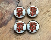 Custom Order Fabric Buttons, Giants Baseball, Baseball Buttoms