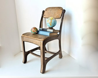 Desk Chair, School Chair, Vintage Children Chair, Vintage School Chair, Kindergarten Chair