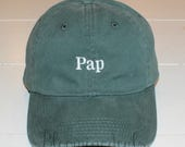 Baseball Caps Personalized Embroidery Green Low Profile Distressed Pigment Dyed Unconstructed Hat