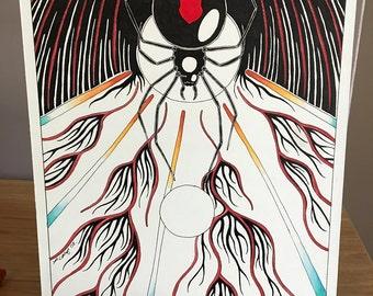 Redback Spider as Totem - Original Art