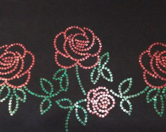 Rose Metallic Unisex Sweatshirt OR Women's Long Sleeve Tee Shirt Small thru 3XL FREE SHIPPING Plus Sizes Too