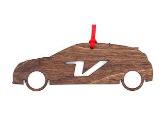 Wooden Hyundai Veloster Ornament