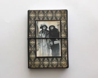Shabby Vintage Style Small Journal Notebook with Lined Pages