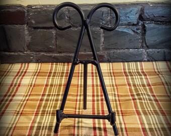 Black Wrought Iron 8 inch Scroll Easel Slate Sign Holder/ Multi Size Easel Slate Sign Holder/ Wrought Iron Sign Holder/Wrought Iron Easel