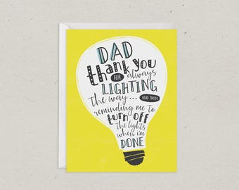 Fathers Day Card | Dad | Lighting the Way | Funny