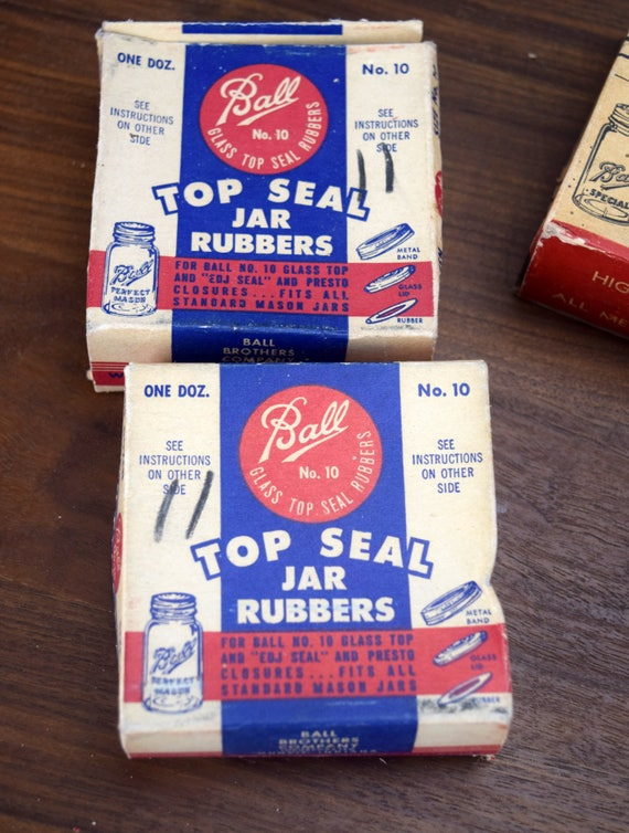 Vintage Ball Canning Jar Rubbers 10 Boxes Glass Lid Seals Wide