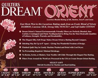 Quilters Dream Orient Quilt Batting-Craft Size Natural Color Quilt Batting