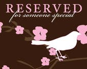 Reserved Listing for Rose Rosie