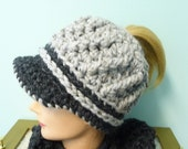 Custom Order for Cara Messy Bun Ponytail Newsboy Hat