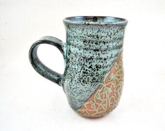 Large pottery mug, 20 oz Ceramic mug, stoneware pottery mug - In stock