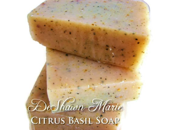 SALE SOAP- Citrus Basil Soap, Organic Soap,  Cold Process Soap, Vegan Soap, Natural Soap, Olive Oil Soap, Christmas Gift, Mother's Day Gift