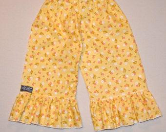 Floral Ruffle Pants - 1 left size 18 month