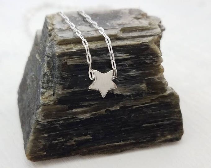 Tiny Silver Star Necklace