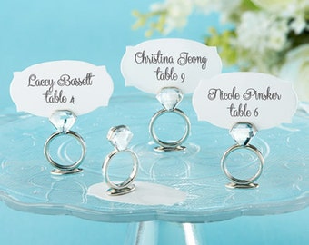 72 With This Ring Place Card Holders Bridal Shower Wedding Favors