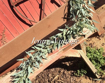 6ft Seeded Eucalyptus Wedding Garland, 6ft Rustic Wedding Garland, Southern Wedding Garland, Barn Wedding Garland, Wedding Centerpiece