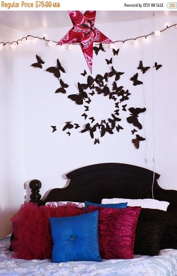 Christmas Sale 3D Butterfly Wall Art Paper Butterflies Set of 100, Home Decor, Bedroom, Nursery