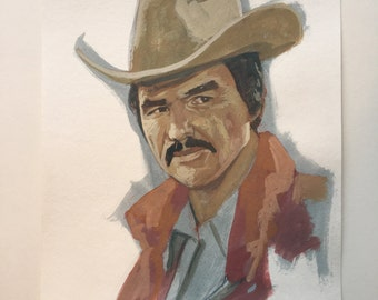 Burt Reynolds as Butch Cassidy - Original Painting