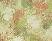 Cotton quilting print - 1/2 yard of green thistle in grass from Urban Couture by Basic Grey