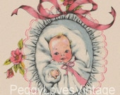 New Baby Vol 2  Vintage Greeting Card Images on CD