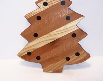 Big CHRISTmas Tree Cutting Board  Hand Crafted from Mixed Hardwoods
