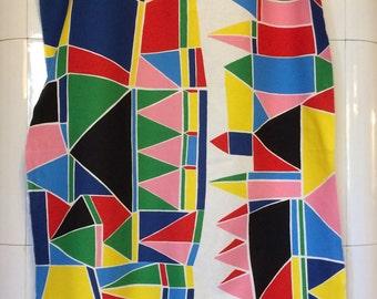 Marimekko fabric Kortteli 70 X 140 by Aino-Maija Metsola, Finnish Design
