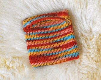 A Little Candy Colored Knit Pouch