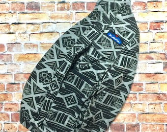 Monogrammed Kavu Rope Bags - Limited Edition Charcoal Tribal - Great gift for College, Teens, Women, Outdoors Satchel Crossbody Tote