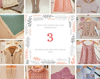 Pattern Package -  choose any 3 crochet patterns