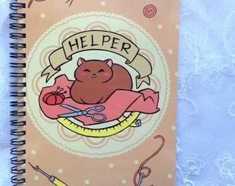 Cat Helper Unlined Sketchbook