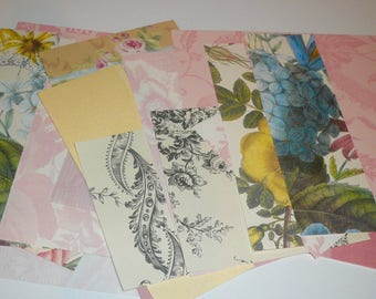 Anna Griffin Decorative Paper Kits Florals Toils Plaids Scrapbook Paper Retired