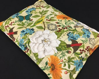 Gift for Mom, Microwave Heating Pad, Gardener Gift, Corn Bag, Heat Pack, Pain Relief, Relaxation Gift, Hot Cold Therapy, Floral Bag