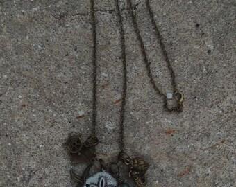 Long Chain Steampunk Nautical Beach Ocean Shell Starfish Mermaid Sea Life Charm Necklace